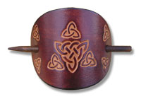 Celtic Leather Hair Slide
