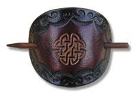 Celtic Leather Hair Slide