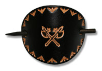 Axes Leather Hair Slide