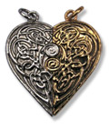 Tristan and Iseult Love Token Pair