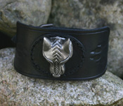 Leather Wristband with Celtic Cross