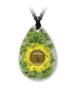 Yellow Flower Drop Pendant