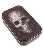 Oriental Skull Metal Tin