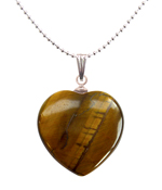 Tiger's Eye Heart Pendant