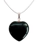 Onyx Heart Pendant