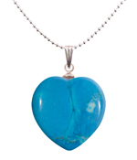 Turquenite Heart Pendant
